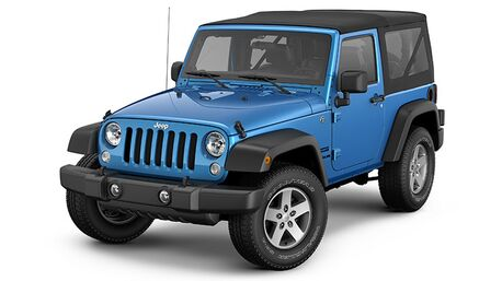 New Jeep Wrangler in Spring