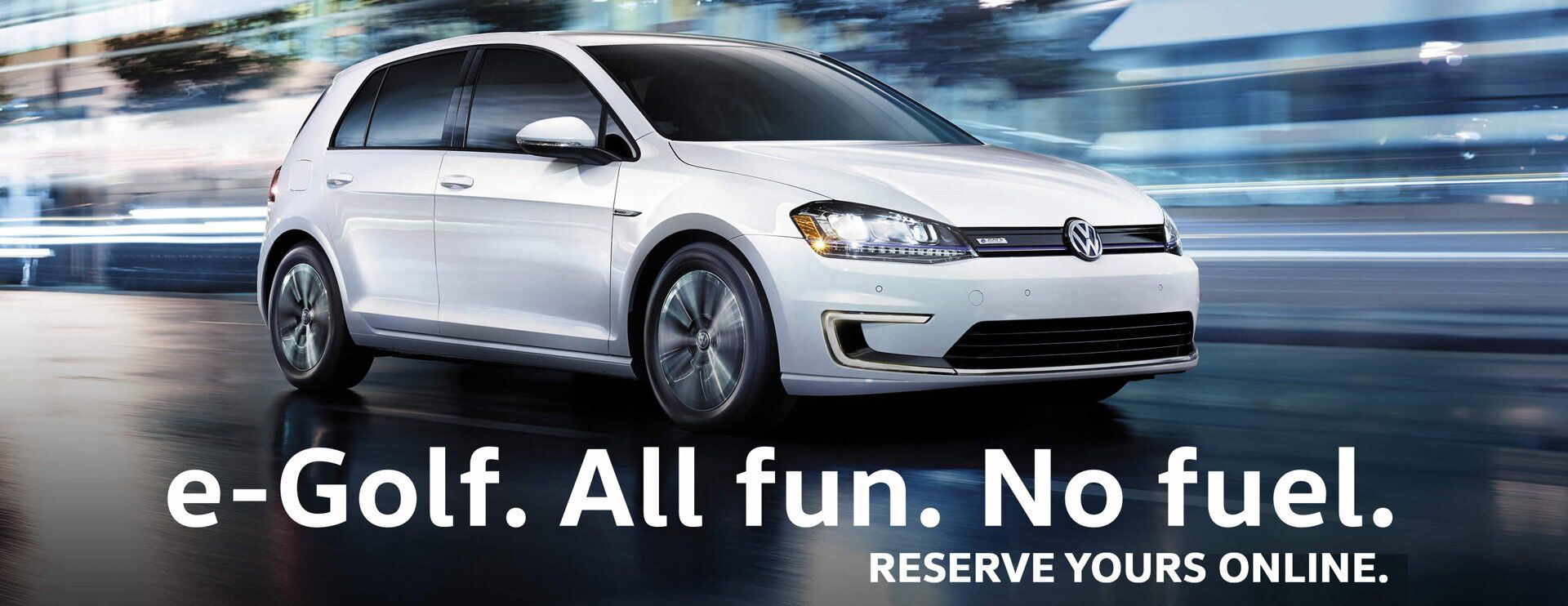 reserve your e-golf at Clarkdale Volkswagen