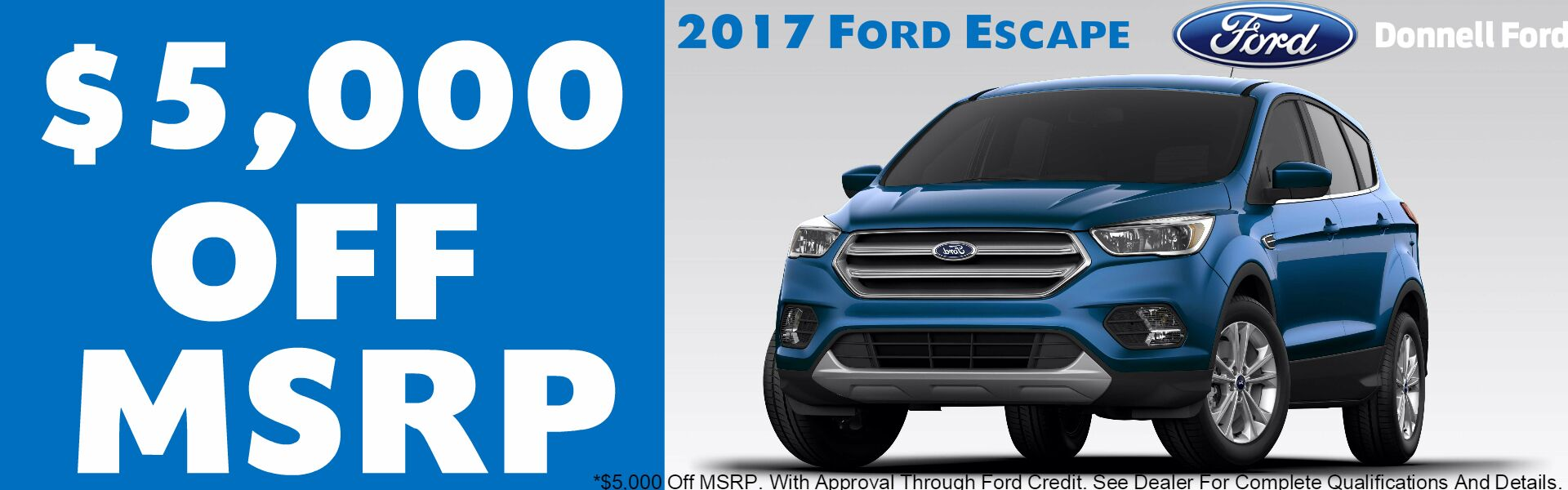 Donnell Ford Jan 2017 Escape Banner