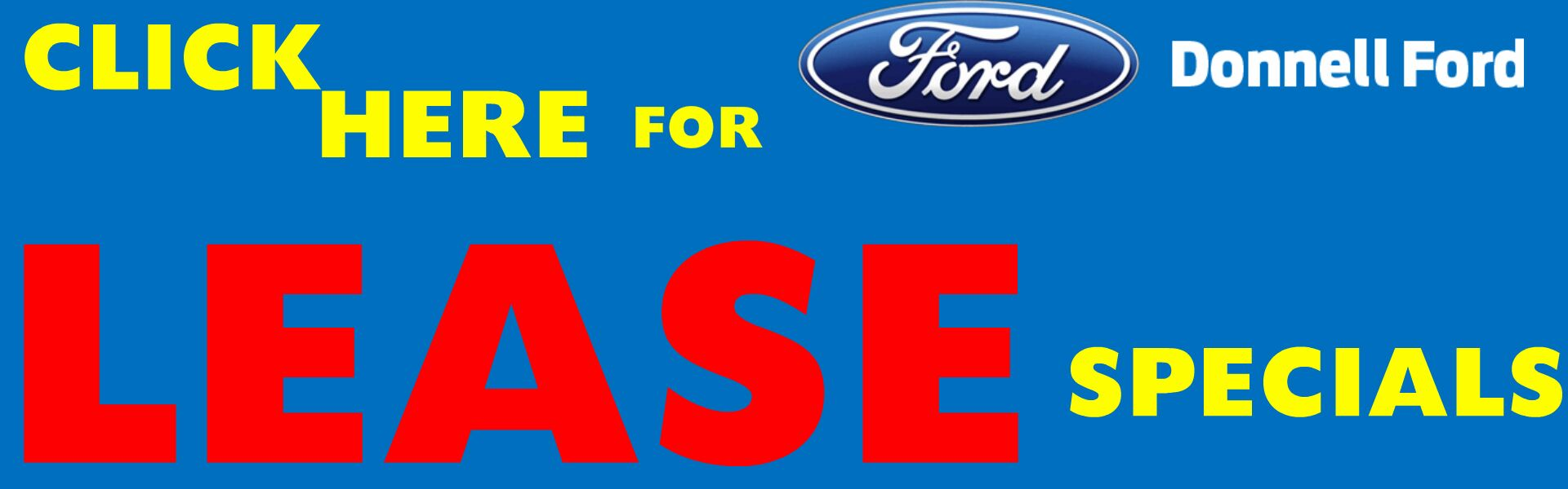 Donnell Ford Lease Specials Banner