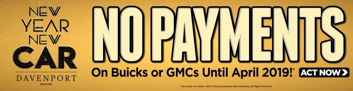 No Payments on Buicks and GMCs