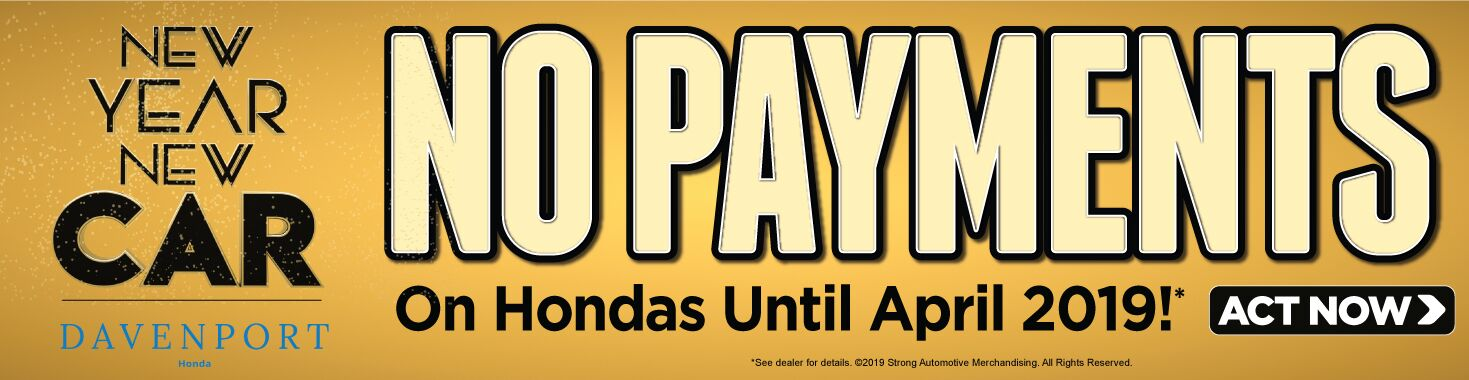 No Payments on Hondas