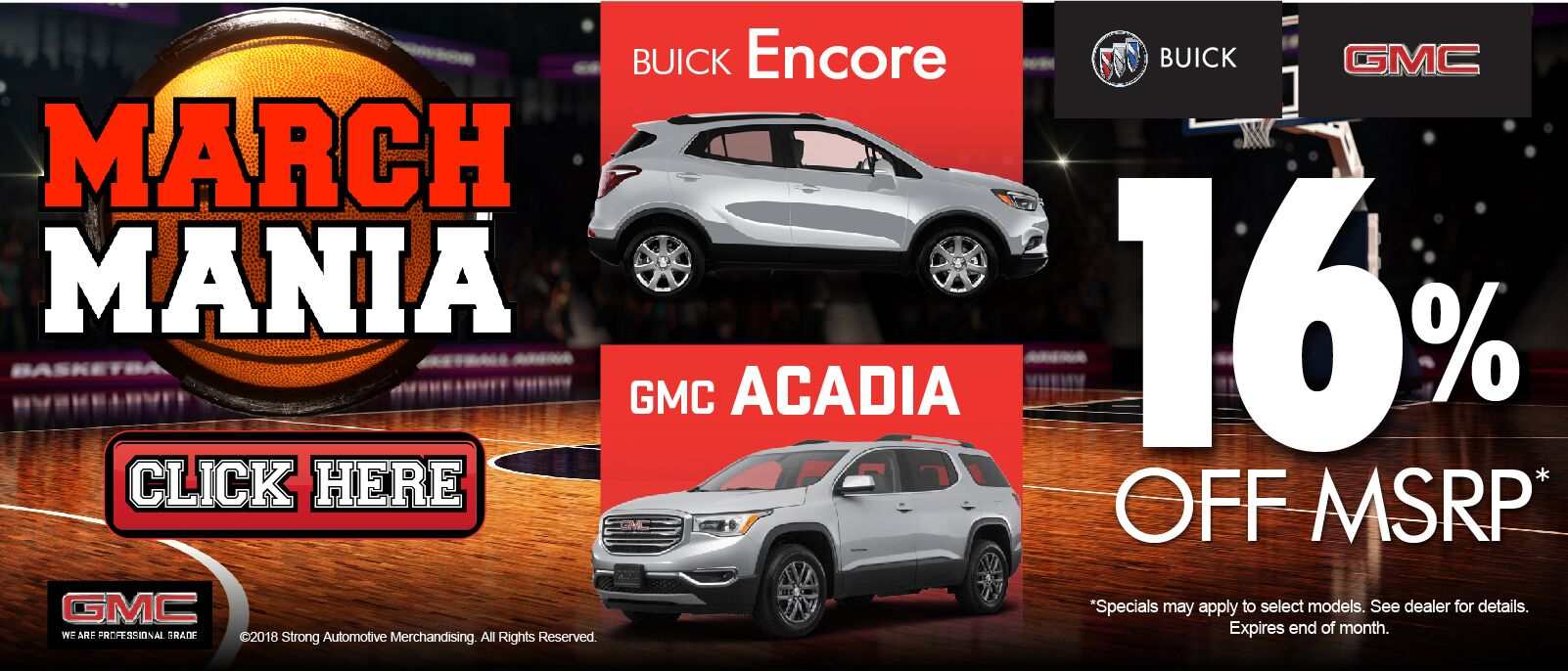 March Madness Encore Acadia