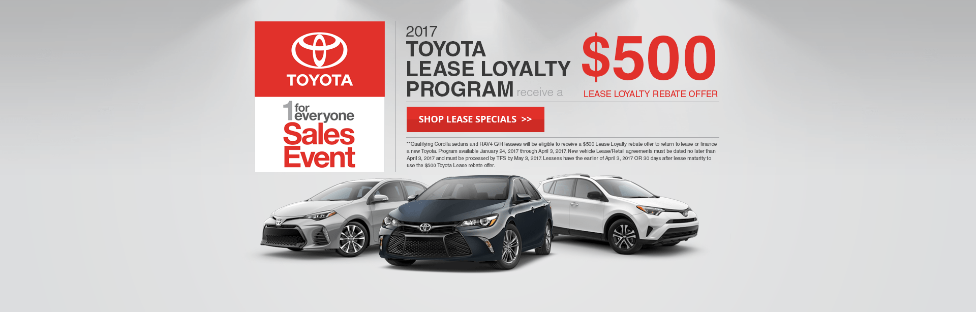 Toyota Lease Special Offer