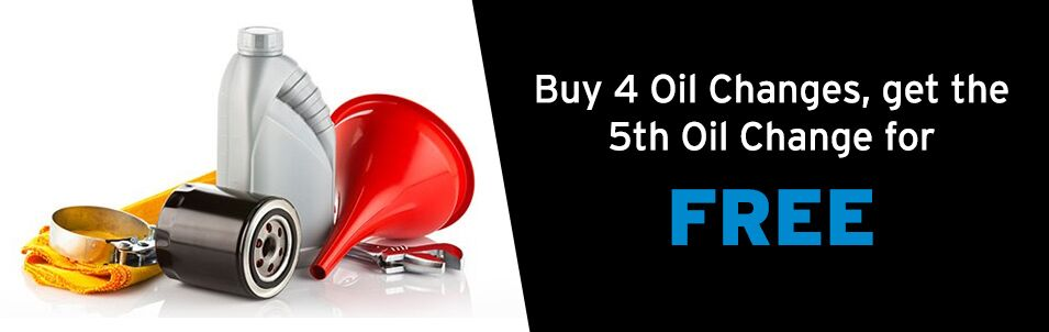 Buy 4 Get 1 Oil Change