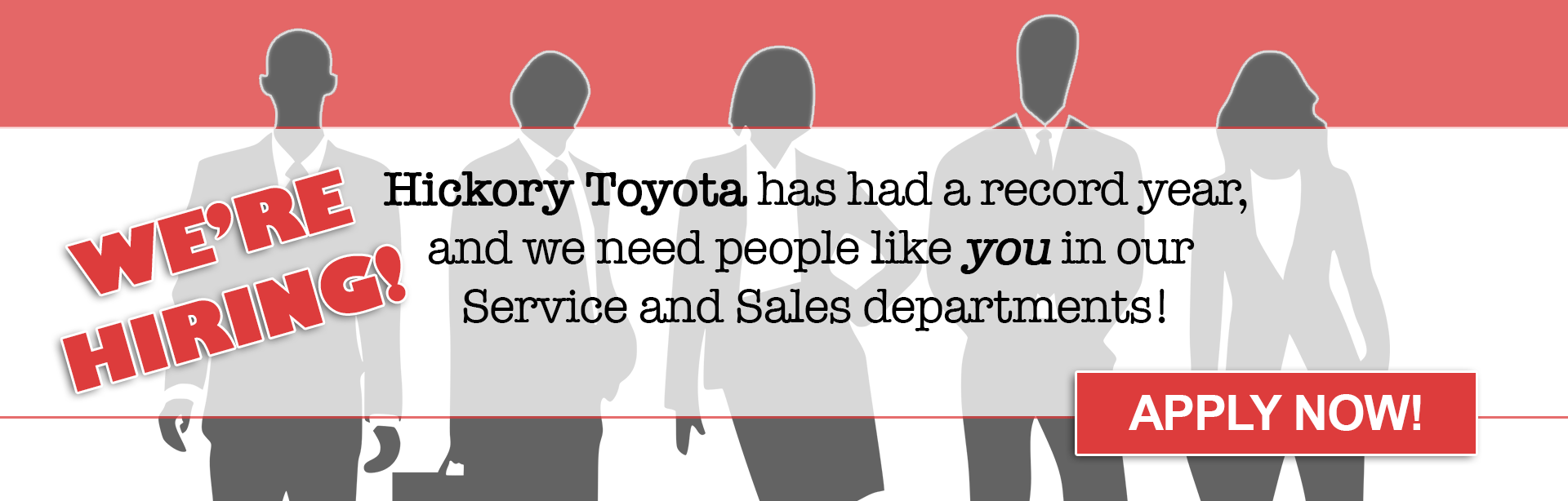 Hickory Toyota is Hiring!