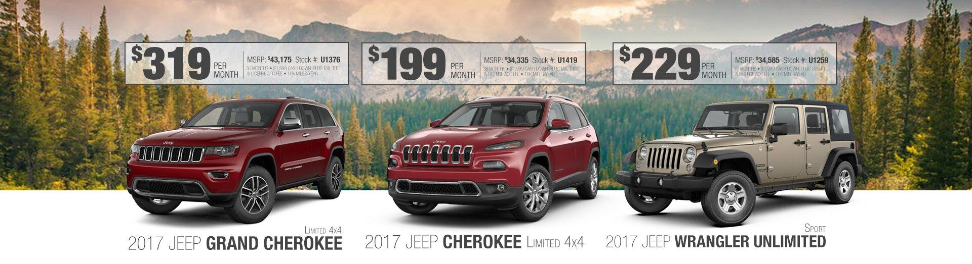 2017 Grand Cherokee-Cherokee-Wrangler Unlimited