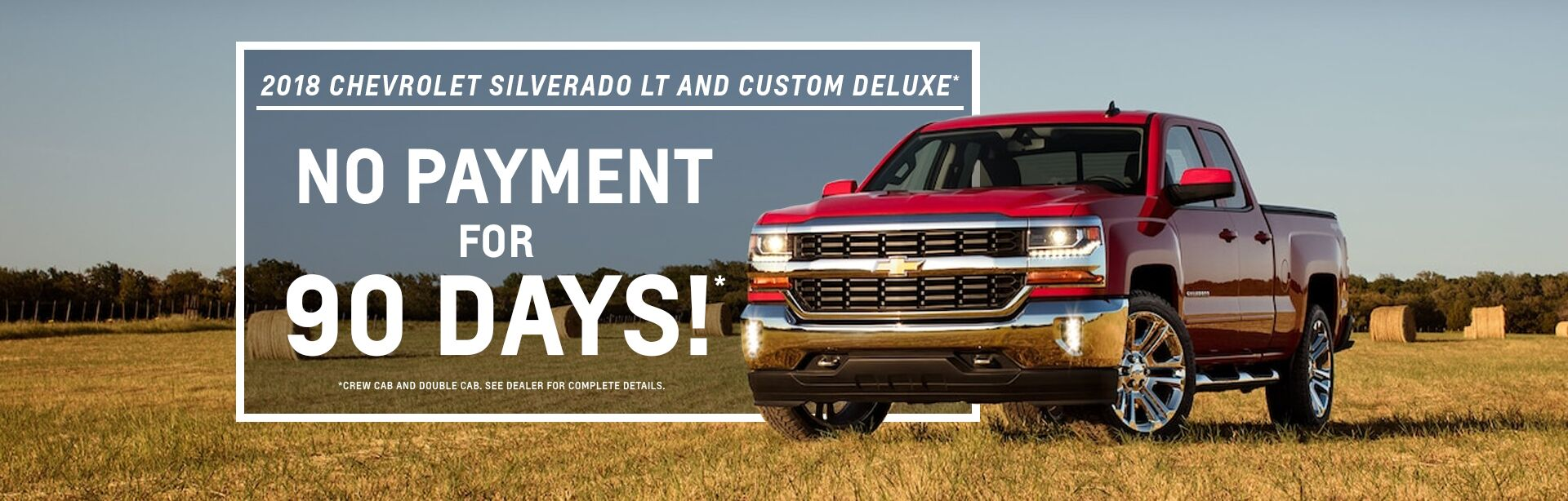 No Payment 90 Days 2018 Chevy Silverado