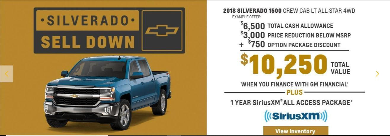 2018 Silverado 1500 Crew Cab LT ALL STAR 4WD