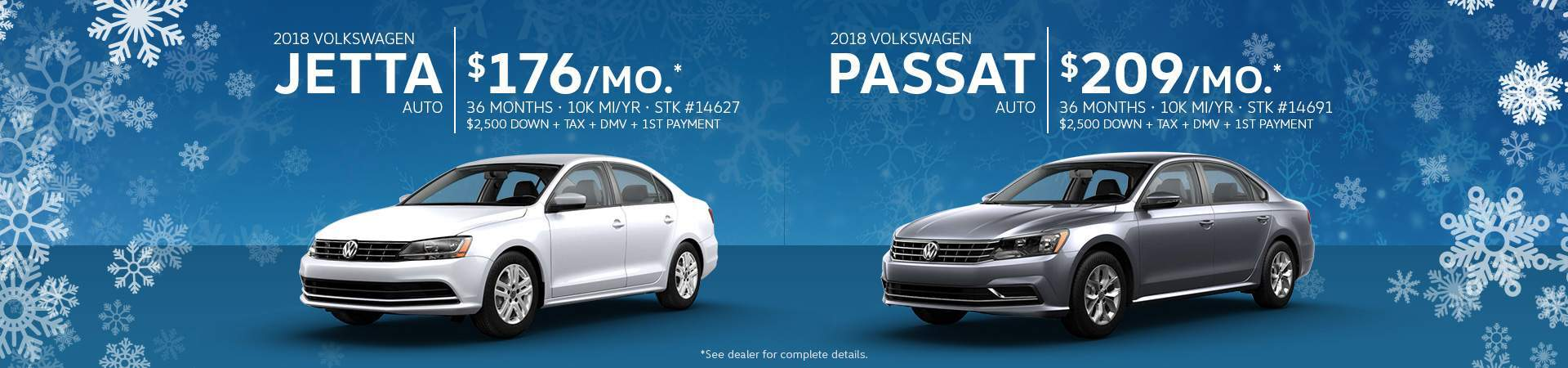 January Jetta Passat Exclusive
