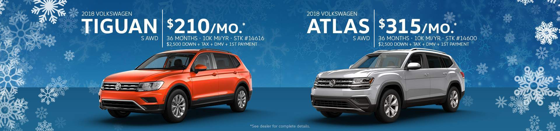 January Tiguan Atlas Exclusive