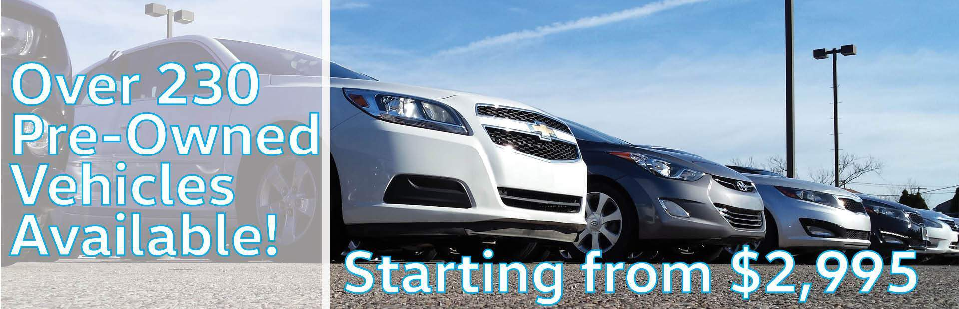 Pre-Owned Vehicles!
