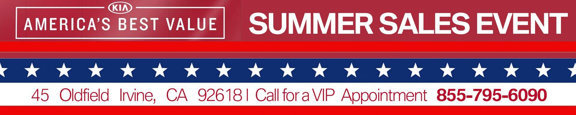 Kia Of Irvine Summer Sales Event Orange County