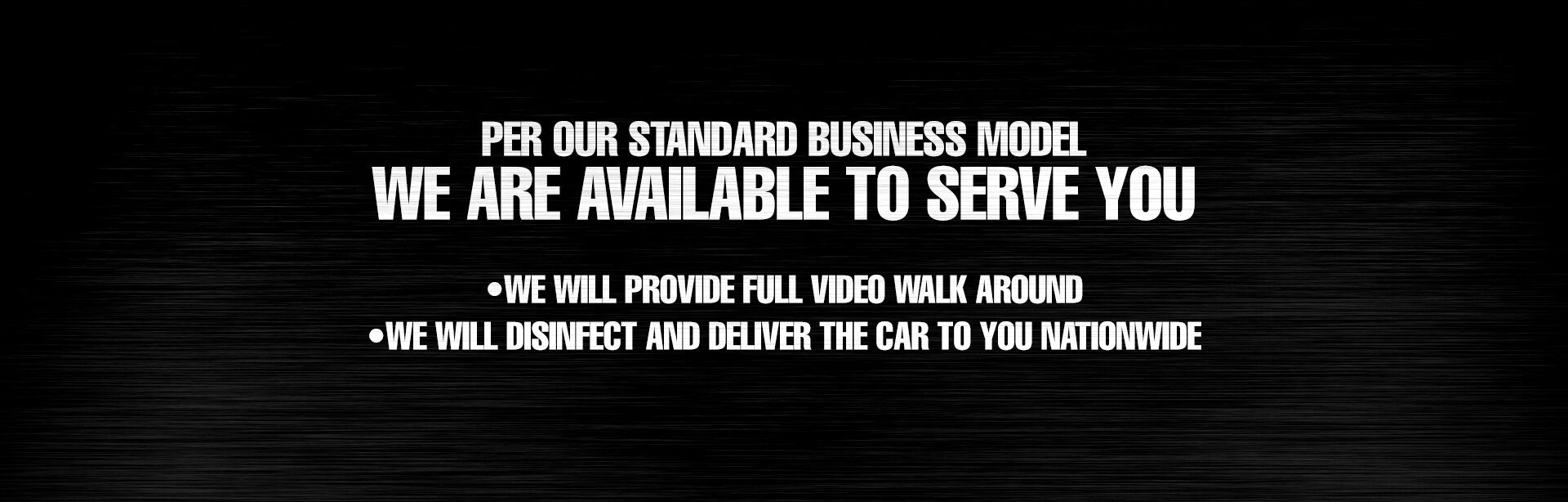 We are Available to Serve You