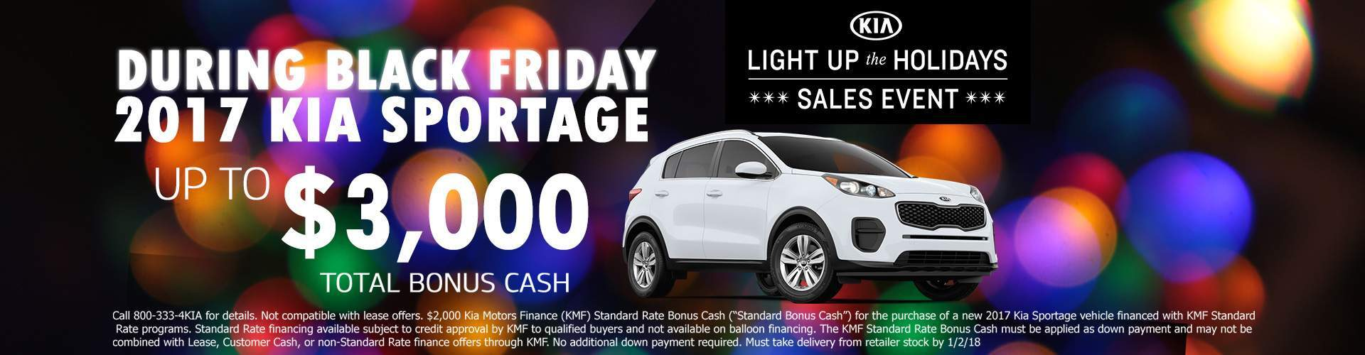 Black Friday 2017 KIA Sportage