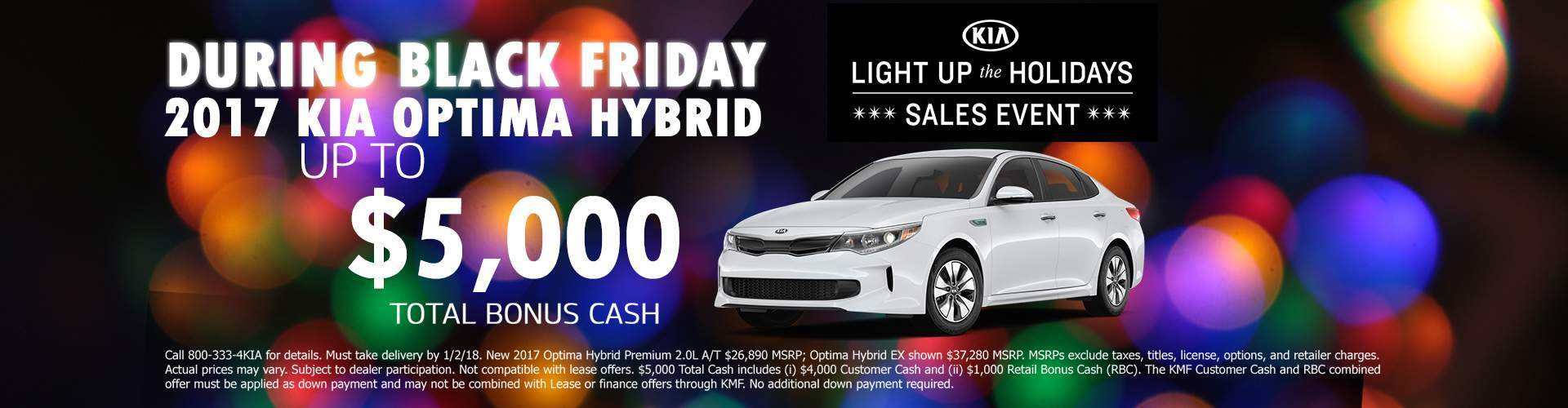 Black Friday 2017 KIA Optima Hybrid