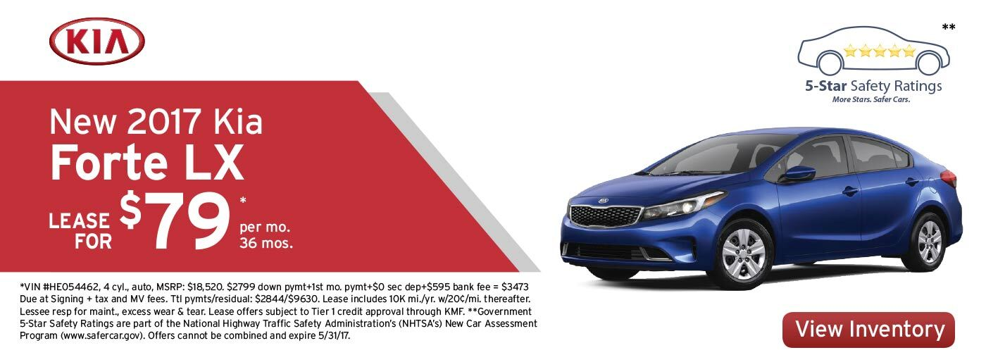 New 2017 Kia Forte LX Lease