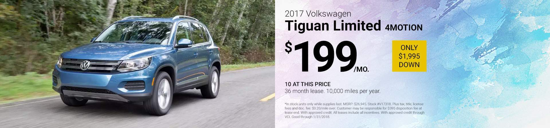 2017 Volkswagen Tiguan Limited LIMITED 2.0T 4MOTION