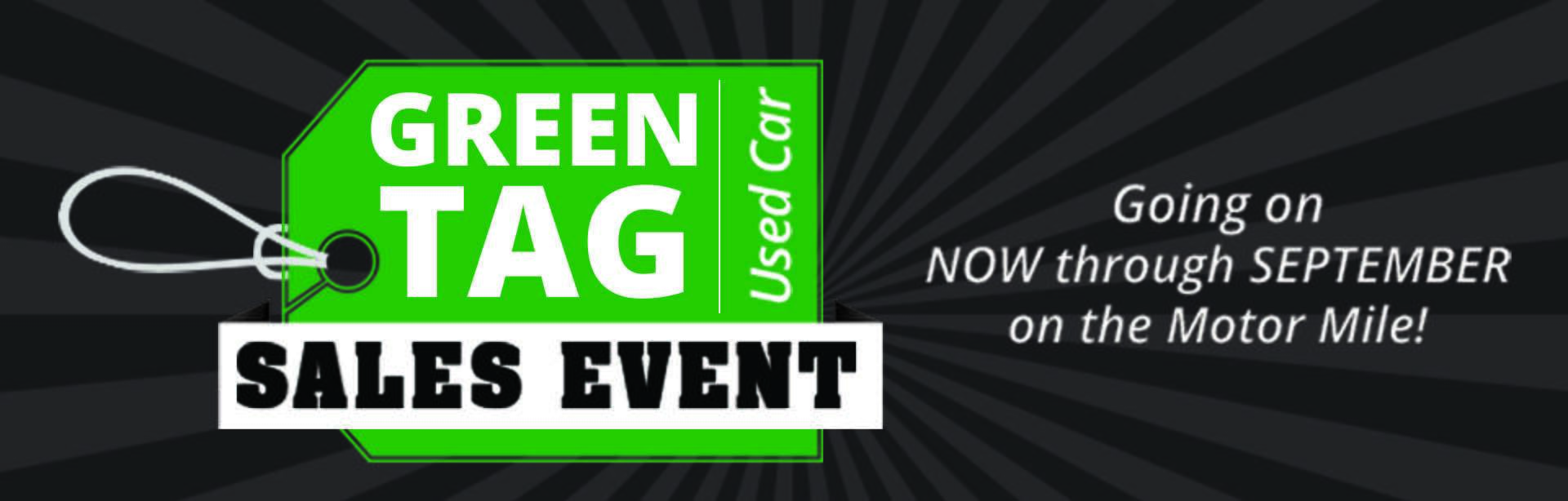 Green Tag Used Car Sales Event