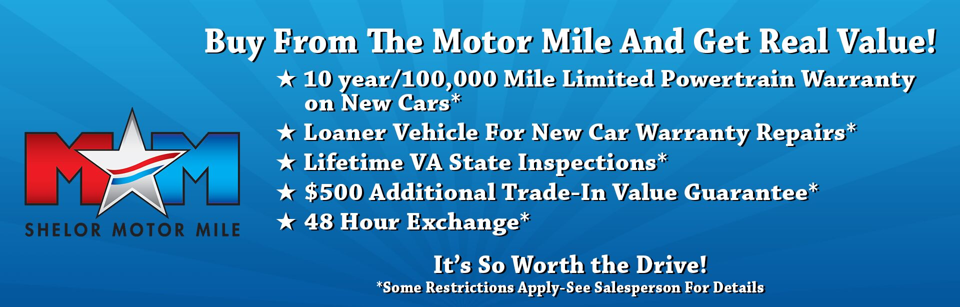 Buy from the Motor Mile and Get Real Value!