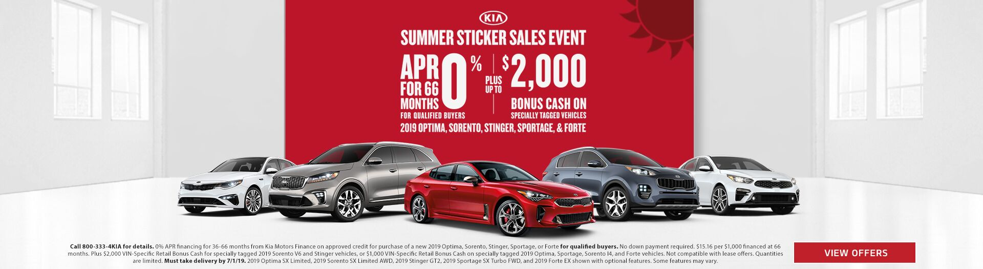 Kia Summer Sticker Savings Event