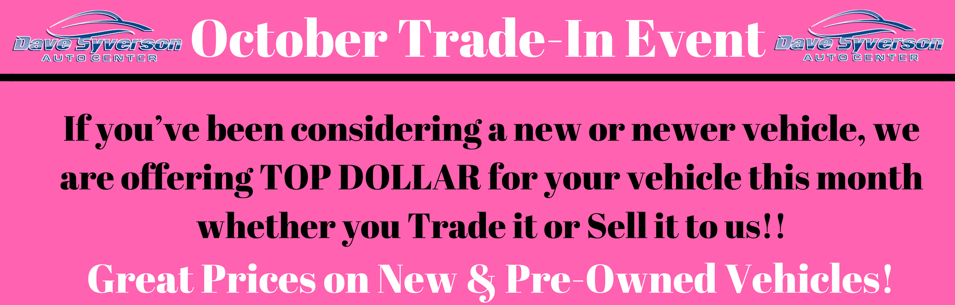 October Trade-In Event