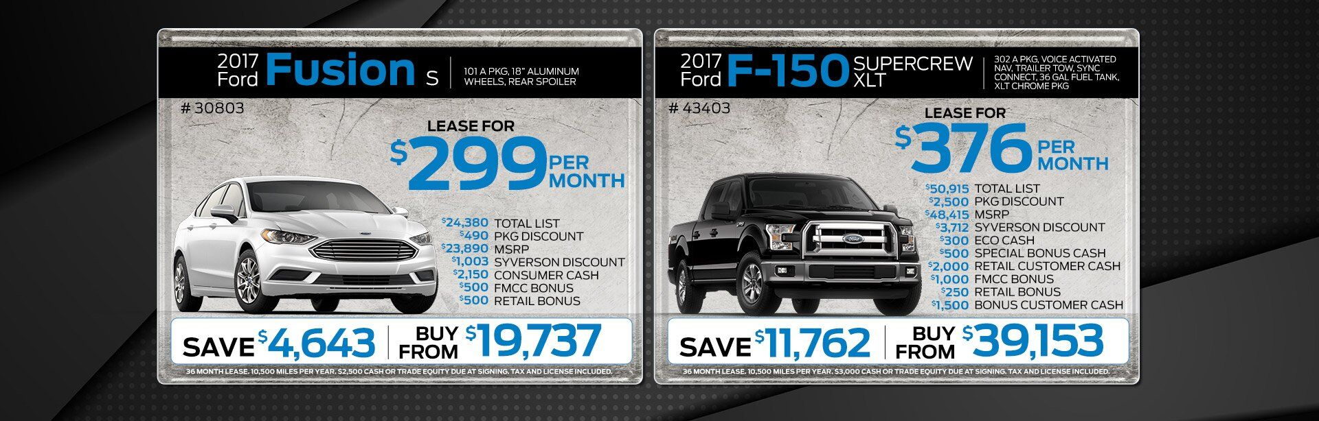 April Ford Specials at Dave Syverson Auto Center