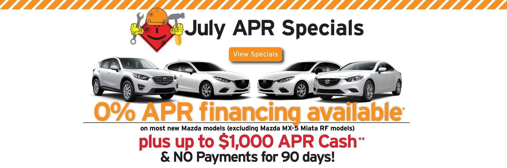 Capistrano Mazda APR offers - 0% APR upto 60 months + $1,000 Bonus Cash