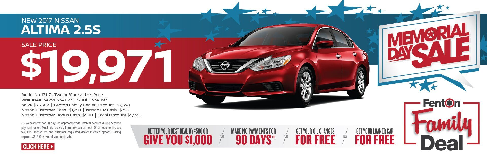 Memorial Day Sale - Altima