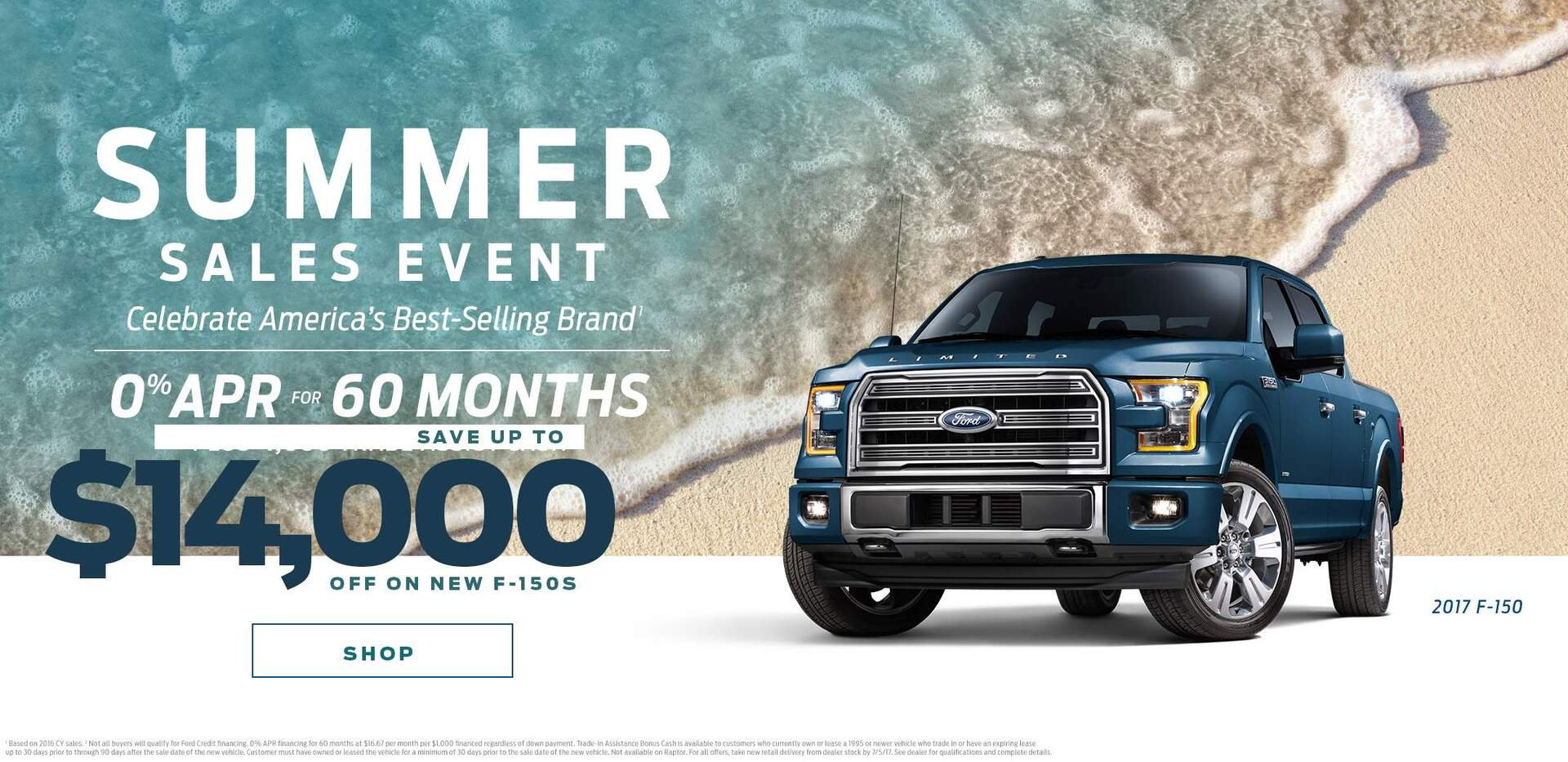 Save up to $14,000 off on Ford F150s