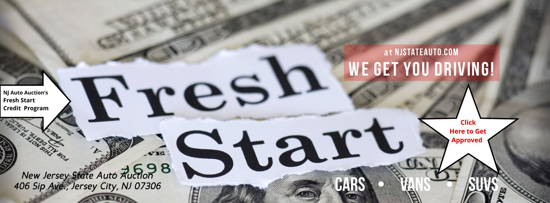 Used Cars NJ - Fresh Start Credit at NJ Auto Auction