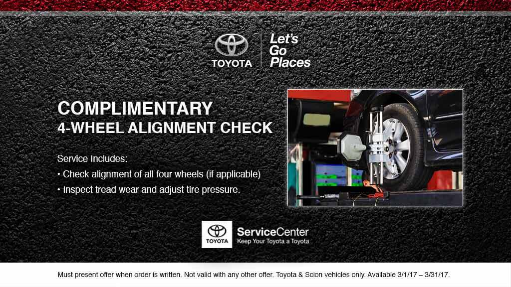 Complimentary 4-Wheel Alignment