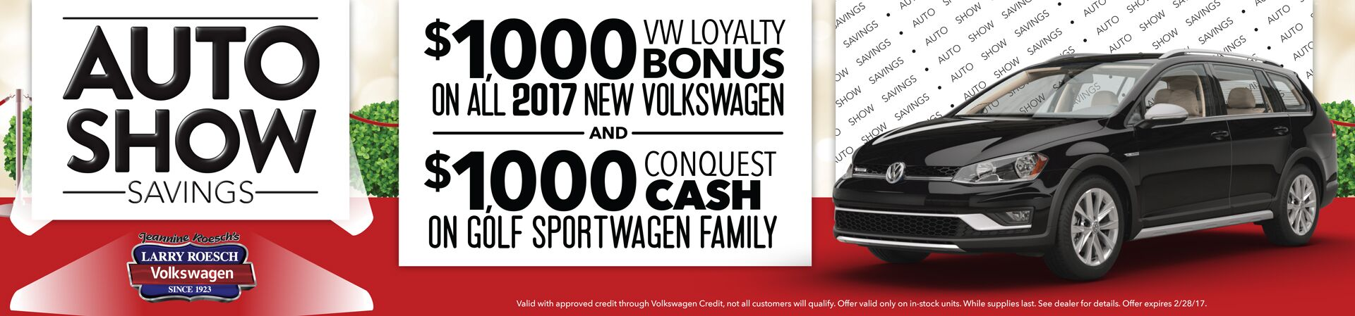 $1,000 Loyalty + $1,000 Conquest Cash