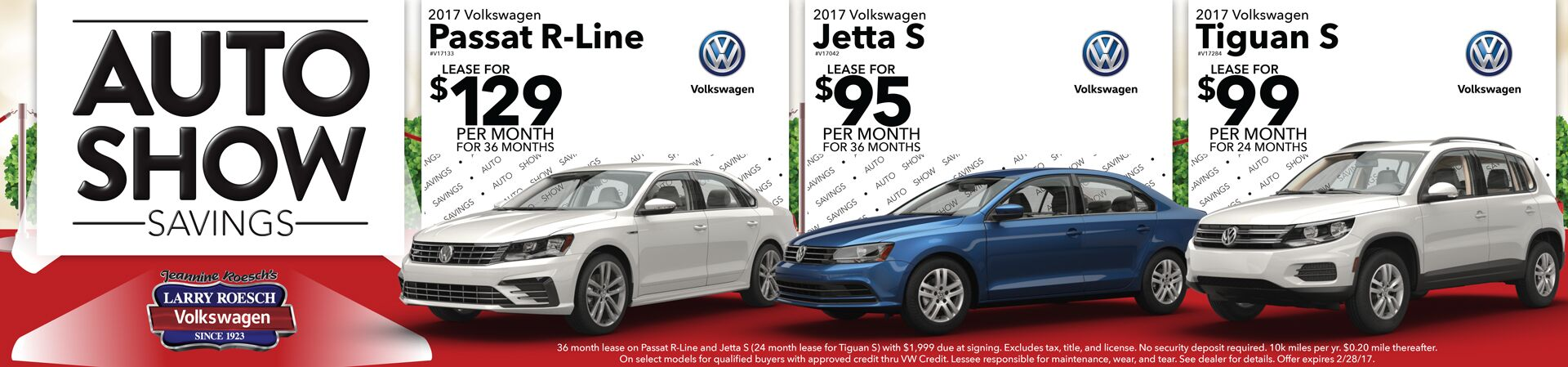 VW Model Lease Prices