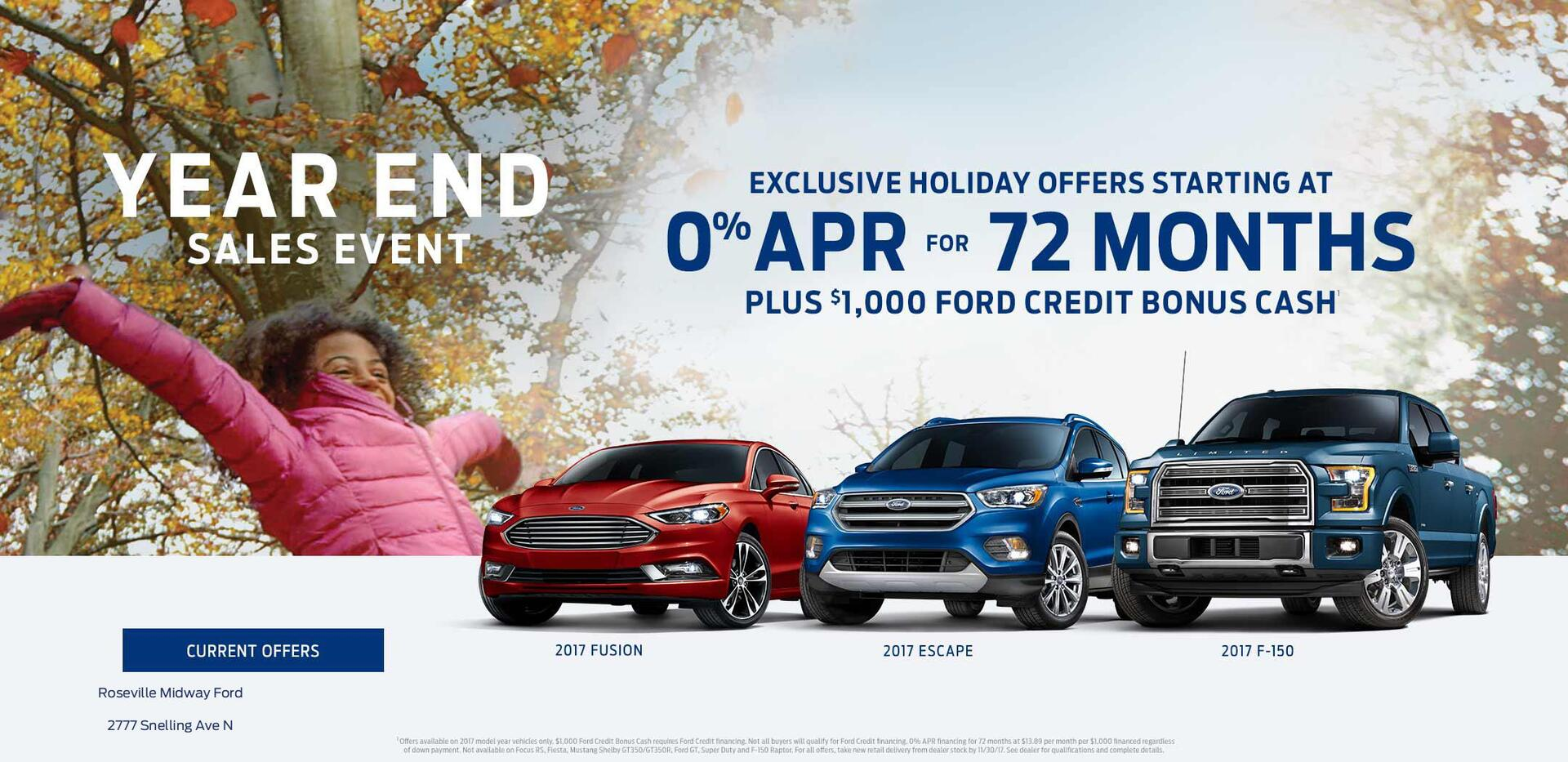 2017 Year End Sales Event