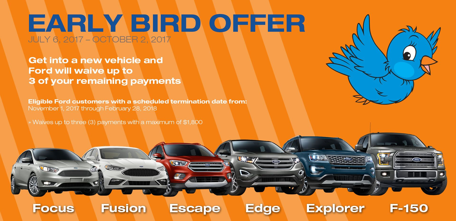 Ford Early Bird Special Offer