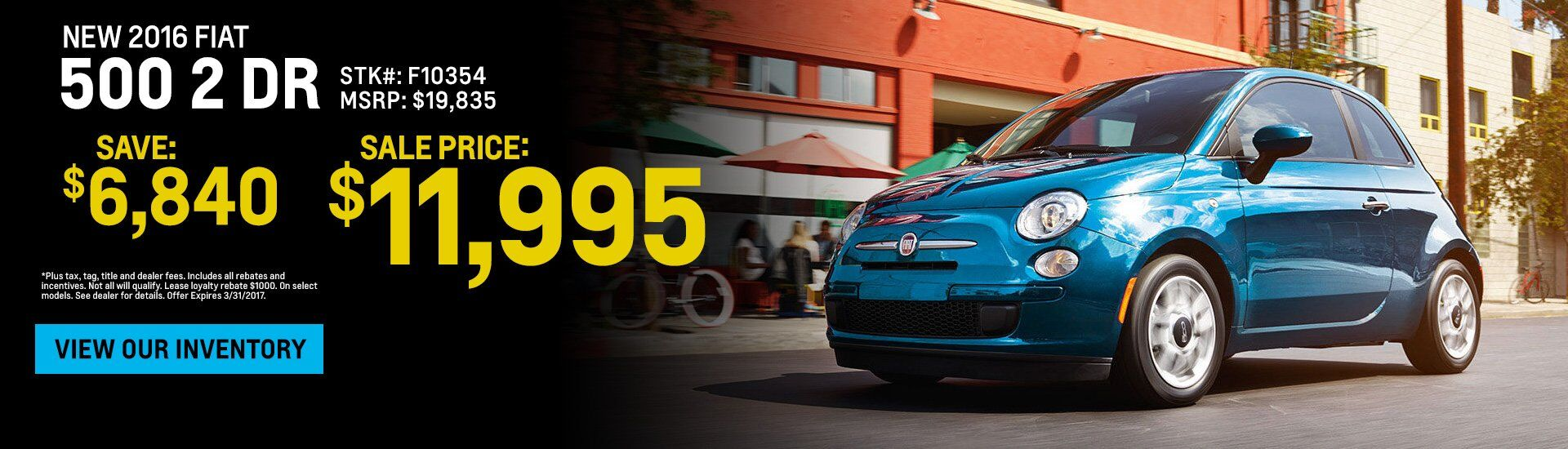 new 2016 Fiat 500 sale Rochester NY