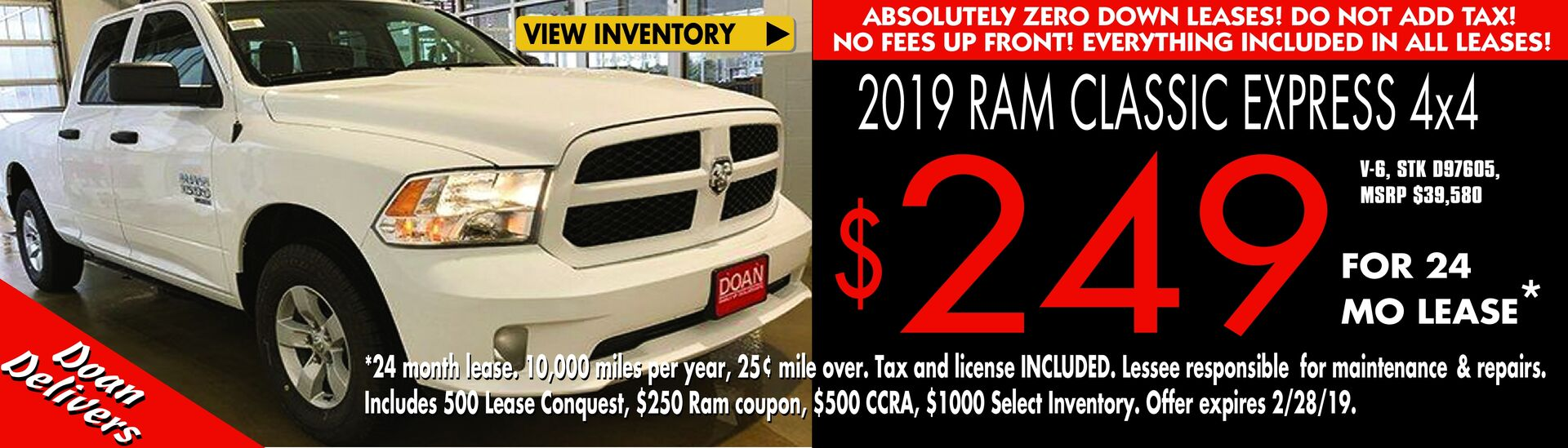 RAM Lease Offer