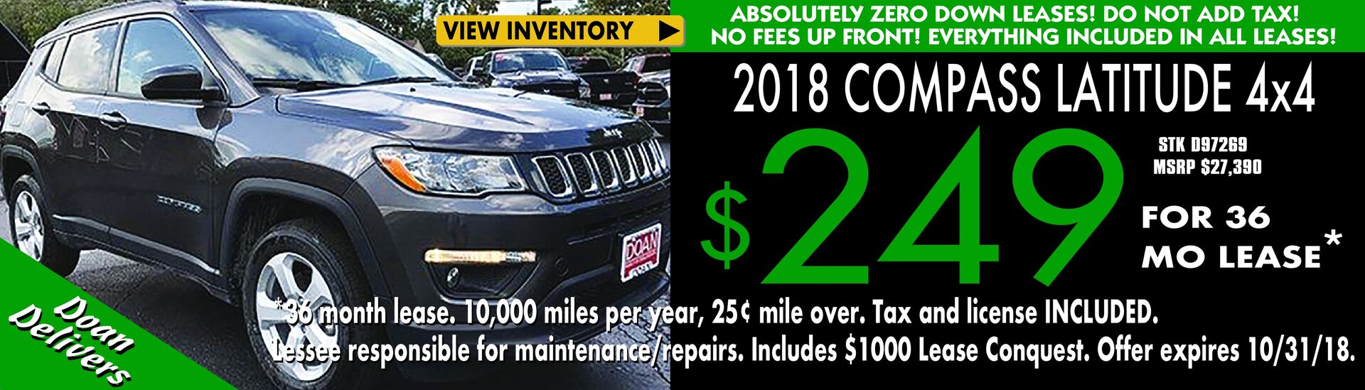 Zero Down Jeep Lease