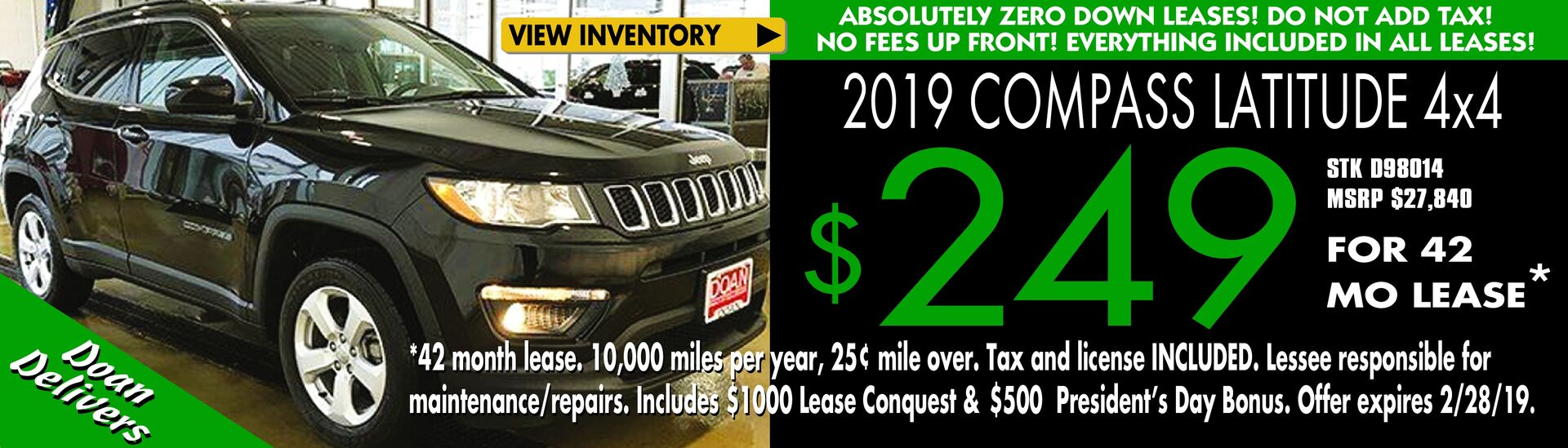 Jeep Compass Lease Deal