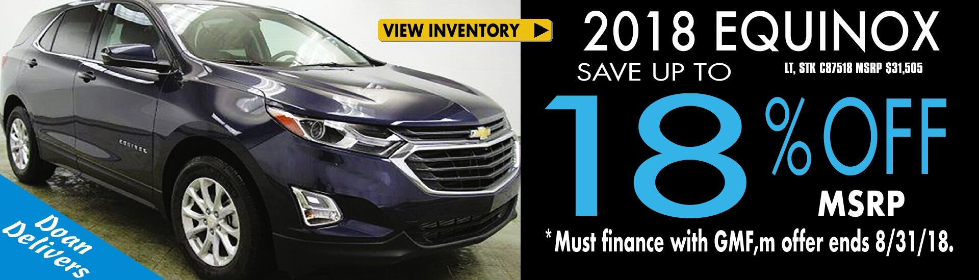 Up to 18% Off MSRP on '18 Equinox