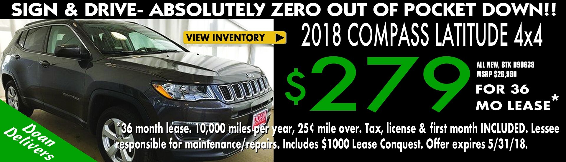 Lease a Jeep Compass!