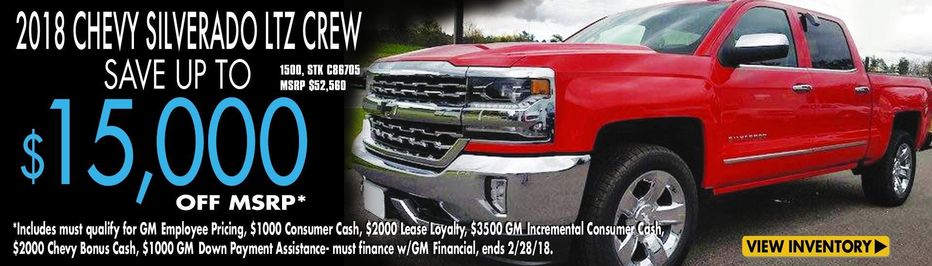 Save up to $15K off MSRP
