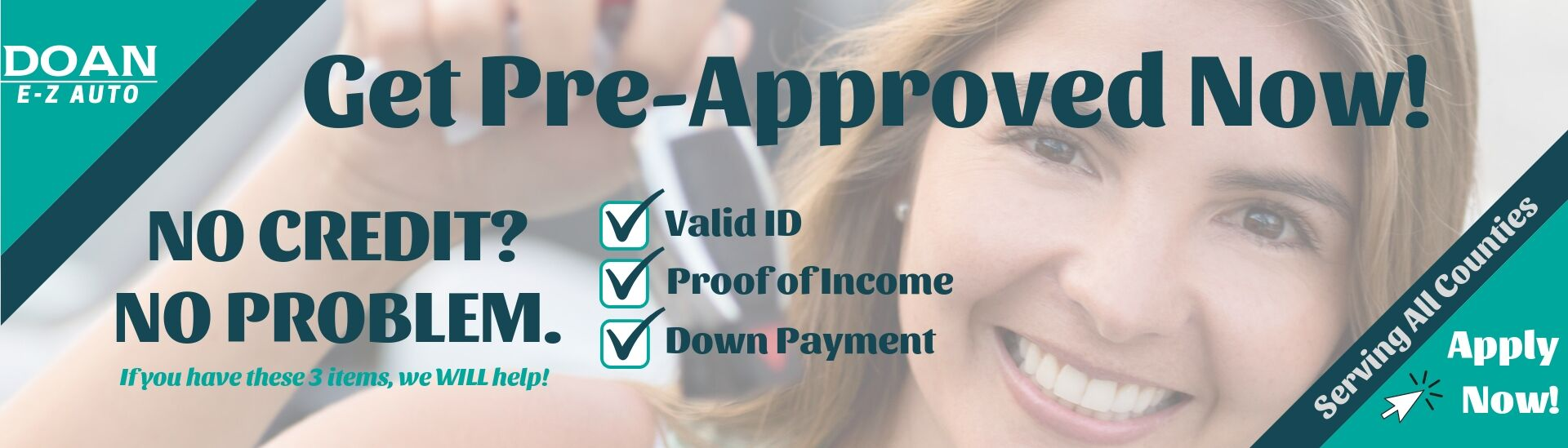 Doan E-Z Auto offers Guaranteed Credit Approval