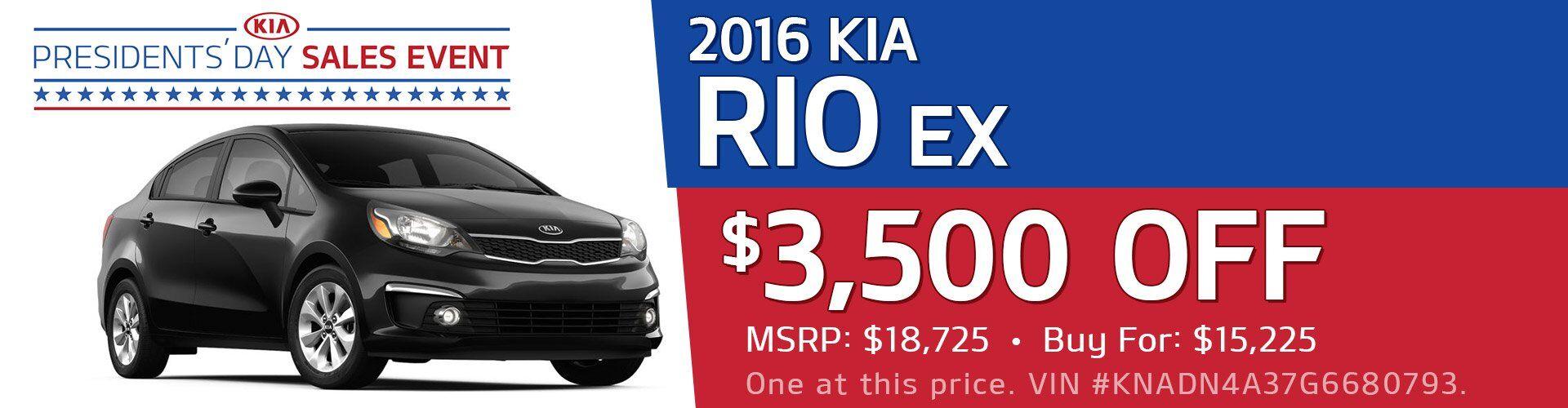 2016 Kia Rio EX