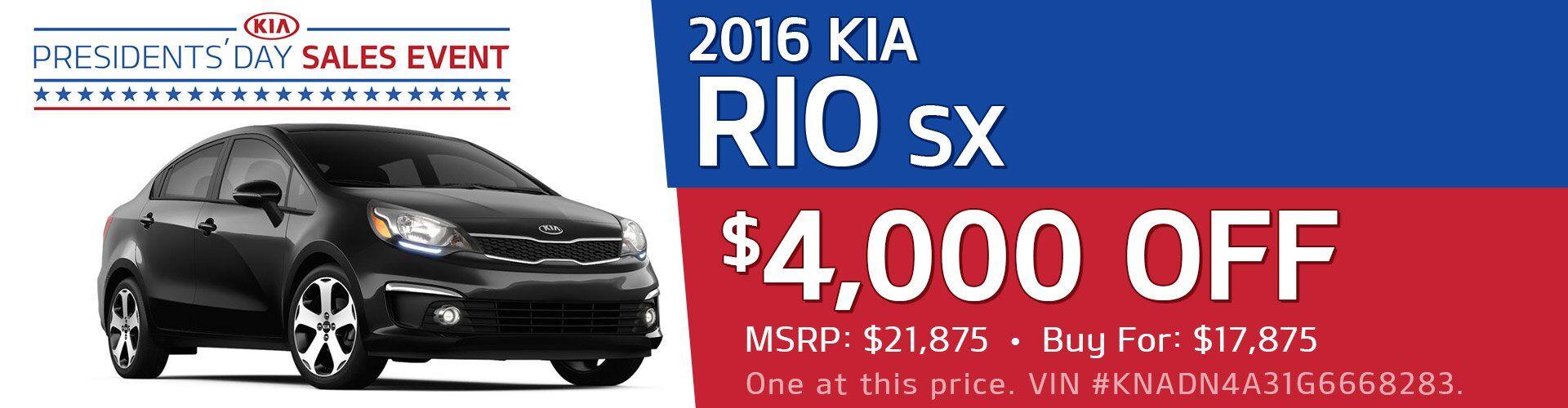 2016 Kia Rio SX