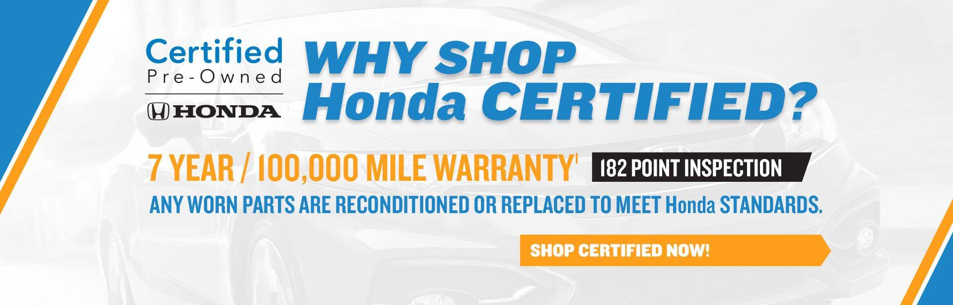 Shop Honda Certified