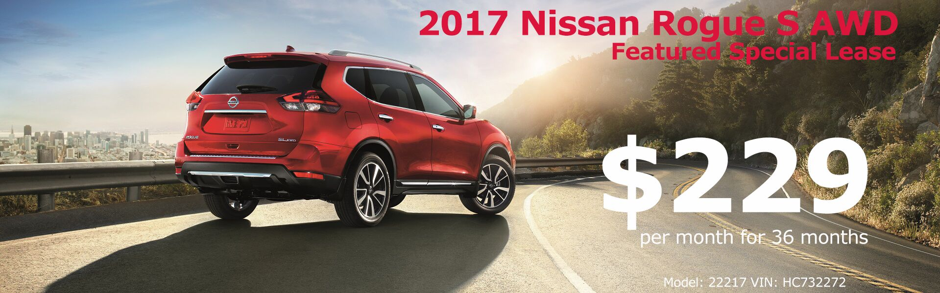 2017 Nissan Rogue Lease Special