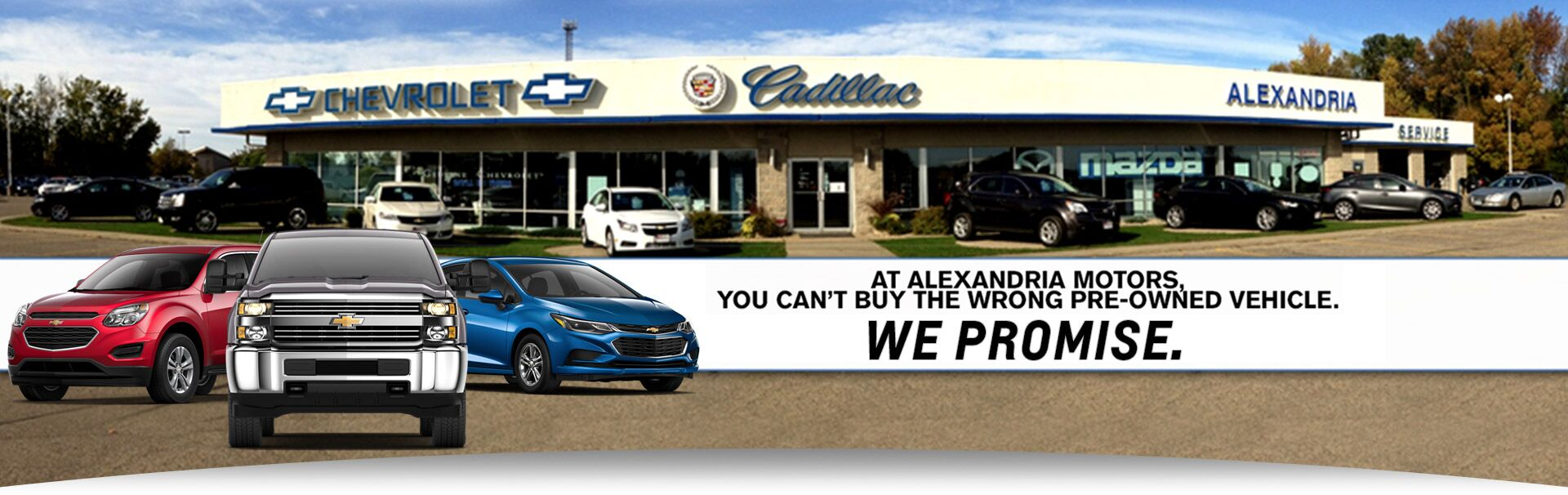 Alexandria Mn New Cadillac Chevrolet Mazda Used Car Dealership Alexandria Motors
