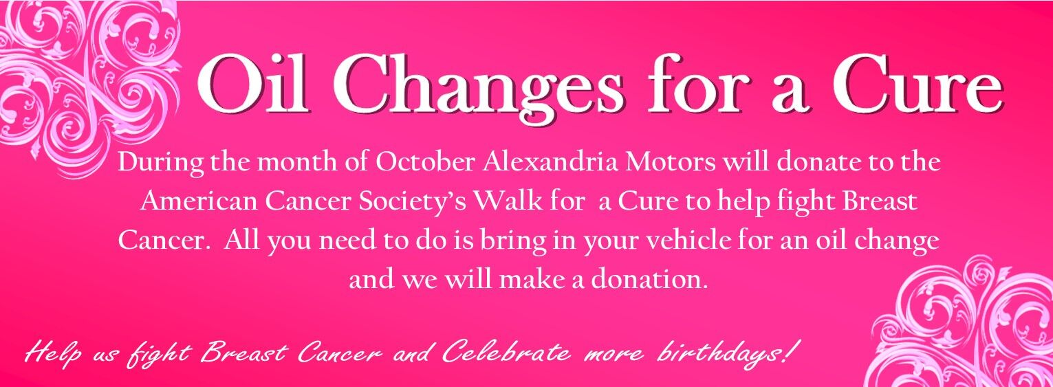 Breast Cancer Oil Changes